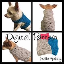 Crochet Patterns For Dog Sweaters