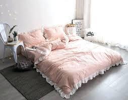 cinderella bedding set princess bed sheets cotton washed fabric fancy girls princess bedding sets light pink