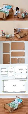 Build A Bear Bedroom Furniture Diy Cardboard Bed For A Doll Or Teddy Bear Home Design Garden
