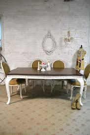 Dining Table Painted Cottage Chic Shabby White French Dining Tab
