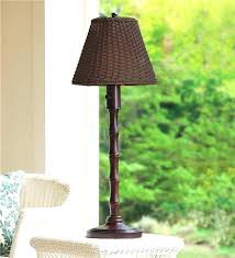 outdoor table lamps patio wicker lamp lighting plow hearth for living concepts home depo outdoor table lamps