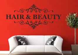 Hair & <b>Beauty Wall Art</b> Decal Quote Nail <b>Beauty</b> Salon Hairdresser ...