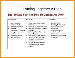 Day Action Plan Template Free Best Of 90 For New Job Example
