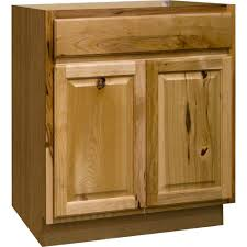 Sink Base Kitchen Cabinet In Natural Hickory Hickory Wood Cabinets D70