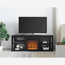 fireplace best black electric media center home decor top budget beautiful improvement with color trends gallery