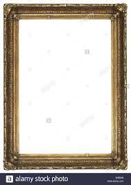 A vertical gold gilded rectangular decorative ornate antique frame