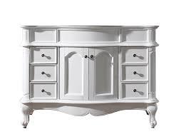 white bathroom vanity 48 inch. Exellent Bathroom Virtu USA Norhaven 48 Bathroom Vanity Cabinet In White In Inch