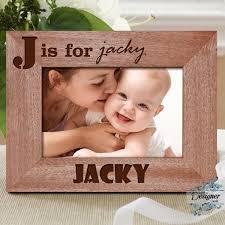 alphabet name personalised wooden photo frame