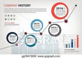 Vector Illustration Timeline Milestone Company History