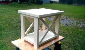 Rustic White End Tables Rh Cozywp Com X Table Plans Diy