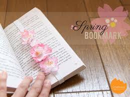 diy tutorial spring bookmark onelmon
