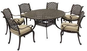black and cream round classic metal patio table and chair set stained ideas for