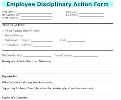 Employee Discipline Form Template New Corrective Action Fresh