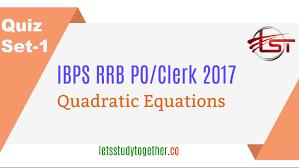 quadratic equation quiz