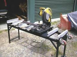 portable chop saw table. chop saw mounts on portable stand table
