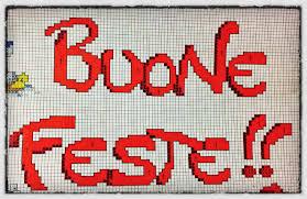 Pannello Buone Feste a punto croce - Pasticciando con Magica Nanà | Punto  croce, Punto croce natalizio, Schemi a punto
