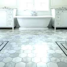 honeycomb tile bathroom floor flooring trend hexagon statements in large white grey grout ti white bathroom floor tiles