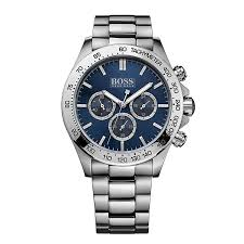 men s hugo boss watches ernest jones hugo boss men s blue dial stainless steel bracelet watch product number 1930435