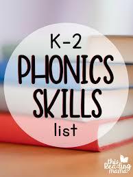 k 2 phonics skills list free