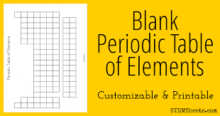 Foil for the black part. Blank Periodic Table Of Elements Stem Sheets