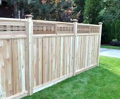 Horizontal Wood Fence Panels Wood Fence Panel With Decorative Top
