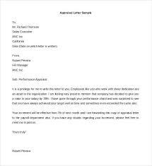 Employee Performance Letter Sample Performance Appraisal Letter Format Doc Best Of Employee