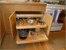 small and narrow corner kitchen cabinet with diy pull out pots and pans storage ideas