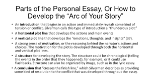 plotting your life rdquo parts of the personal essay ppt video parts of the personal essay or how to develop the arc of your story