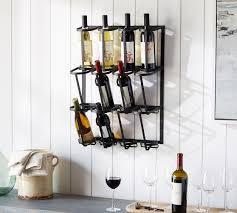 vintage blacksmith wall wine rack c