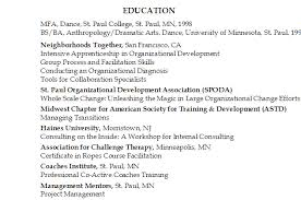Image Education Section: MFA, Dance