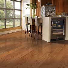 Engineered Hardwood Flooring In Kitchen Mohawk Gunstock Oak 3 8 In Thick X 3 In Wide X Random Length