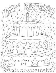 Small Picture Free Printable Birthday Coloring Pages Coloring Coloring Pages