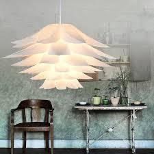 Modern Pendant Lights Lily DIY PVC Lotus Pendant Lamp For Kitchen