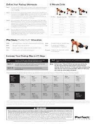 Perfect Pushup Exercise Chart Perfect Pushup Elite Workouts