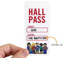 Hallway Pass Template Durable Bathroom And Hall Passes Fun Designs At Best Price
