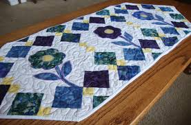Free Table Runner Patterns New Spring Flowers Table Runner Pattern Quilt Addicts Anonymous