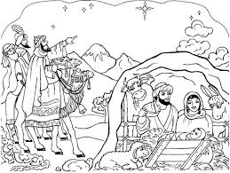 Manger Coloring Pages To Print Nativity Scene Free Christmas