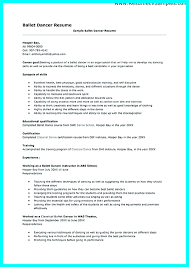 Dance Resumes Template Mesmerizing Child Dance Resume Template Dancer Audition Simple Ballet Teacher