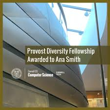 Provost Diversity Fellowship Awarded to Ana Smith | Department of Computer  Science