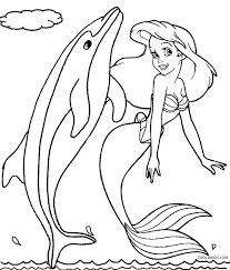 Mermaid Dolphin Coloring Pages Printable For Adults Stilmodaco
