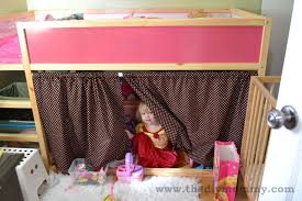 ikea kura bunk bed curtains hack recipe for curtain sizing on bottom bunk
