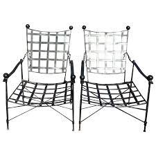 salterini wrought iron furniture. Viyet - Designer Furniture Seating Salterini Mid-Century Wrought Iron Reclining Armchairs