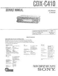 sony cdx c410 service manual