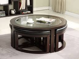 coffee tables splendid round coffee table ottomans underneath regarding most recent coffee tables with seating