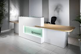 evolution xpression reception desk range is aptly named as it has been designed to give the user the freedom to express themselves