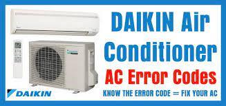 daikin air conditioner ac error codes