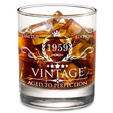 1959 60th birthday gifts for men and women lowball whiskey gl vine funny anniversary gift