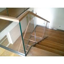 bar wooden glass railing