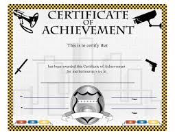 Certificate Of Achievement Law Enforcement And Security