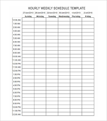 Week Hour Schedule Template Hours Schedule Template Under Fontanacountryinn Com
